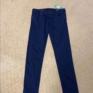 New Lilly Pulitzer  Navy Skinny Pants, size 0